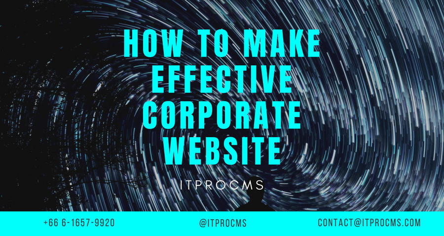 How to make effective corporate website